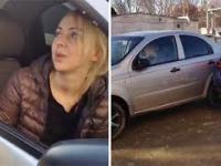 Pijana blondynka próbowała zaparkować samochód