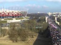 Marsz KOD 2016.02.27 - widok z drona