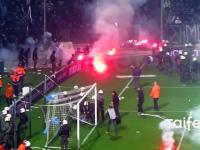 Wielka zadyma podczas meczu PAOK vs Olympiakos