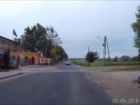 Wieśniak blokuje manewr wyprzedzania