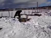 Wyjazd wozem bojowym BMP, który został przysypany śniegiem