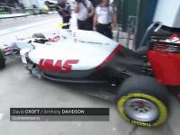 Bardzo pechowa kolizja Grosjeana z Haryanto