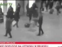 Moment wybuchu na lotnisku w Brukseli