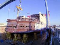 Time-lapse z budowy największego na świecie liniowca