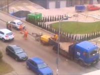 Nieuzasadniona Demolka drogi przez ekipę drogowców