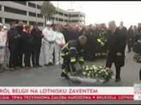 Król Belgii składa kwiaty na lotnisku Zaventem