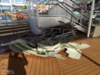 Statek pasażerski po spotkaniu ze sztormem