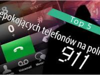 Top 5: Niepokojących telefonów na policję.