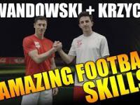 Robert Lewandowski i  Krzychu Golonka prezentują swoje genialne umiejętności