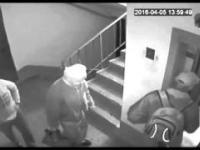 Napad na staruszka w windzie
