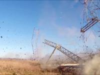 Kontrolowane wyburzanie anten radiowych VoA