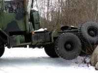 Pojazdy militarne w bagnie