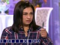 Rosyjska piękna dziewczyna jest nerwowa w telewizyjnym show!