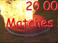 20 000 Match Domino - Amazing Chain Reaction!!!