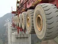 Nietypowa chińska maszyna do budowy wiaduktów