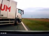 Idiota z ciężarówki prawie spowodował wypadek
