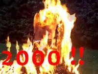 Płonąca wieża Tajpej - 22000 zapałek + Eksplozja!