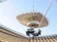 Pokaz zamykania dachu na stadionie narodowym.