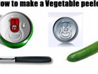 Jak zrobić obieraczke do warzyw z puszki