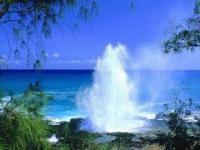 Naturalny fontanna.