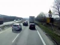 DK86 - nieudana jazda na zamek i kolizja z ciężarówką