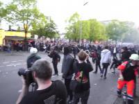 Lewacy vs Policja czyli rozróba w Berlinie