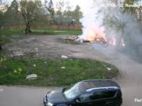 Tymczasem na jednym z osiedlowych wysypisk śmieci w Rosji
