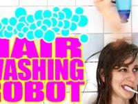 Robot do mycia włosów.
