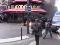 Starcia z policją na ulicach Paryża