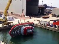 Wodowanie łodzi