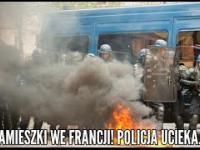 Zamieszki we Francji! Bojówkarze palą radiowozy! POLICJA UCIEKA!