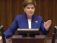 Premier Szydło do opozycji ws. komunikatu KE (20.05.2016)