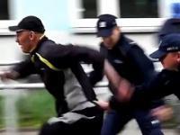 Typowy dres psiknął policjantom gazem po oczach