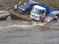 Wypadek podczas przeprawy na rzece