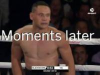 Prawie wypadł z ringu :)