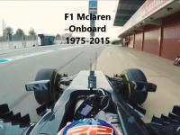 F1 Mclaren Onboard 1975 - 2016