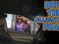 Drive Thru Alligator Prank