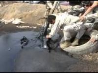 Ratowanie psów z zbiornika na ropę. dramatyczne