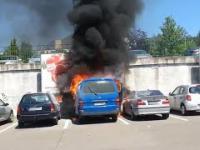 Pożar na parkingu koło Tesco. Spłonęły trzy auta