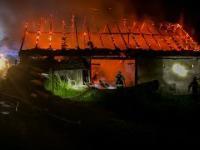 Wilkowisko. Pożar budynku gospodarczego