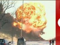 USA: zderzenie pociągów i ogromna eksplozja ropy naftowej