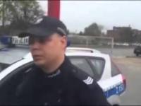 Wypierd**** chamie za brame! Stanowcza rozmowa z policją
