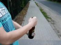 Otwieranie piwa w slow motion