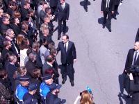 Nie chciał podać ręki prezydentowi i premierowi Francji