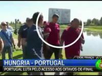 Cristiano Ronaldo wyrywa mikrofon i wyrzuca go do jeziora
