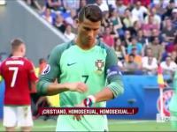 Węgierscy kibice i Cristiano Ronaldo