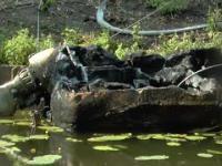 Motorówka spłonęła na Kanale Elbląskim