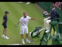 Tenisista oszalał po kontrowersyjnej decyzji sędziego głównego na Wimbledonie