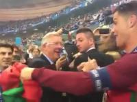 Sir Alex Ferguson i Cristiano Ronaldo - przyjaciół się nie zapomina