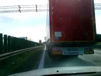 A4 - szeryf TIR blokuje lewy pas